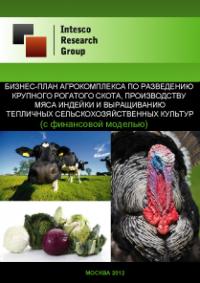 Бизнес-план агрокомплекса по разведению крупного рогатого скота, производству мяса индейки и выращиванию тепличных сельскохозяйственных культур (с финансовой моделью)